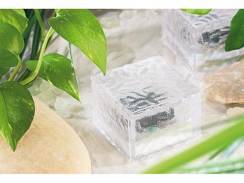 lunartec solar pflastersteine solar led glasbaustein mit. Black Bedroom Furniture Sets. Home Design Ideas