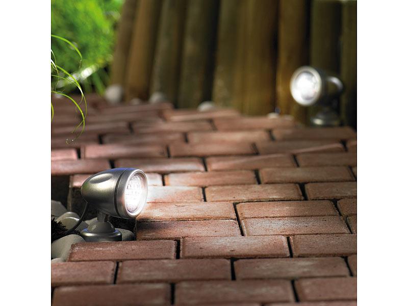 lunartec led lampe mit solarpanel 3 led strahler mit. Black Bedroom Furniture Sets. Home Design Ideas