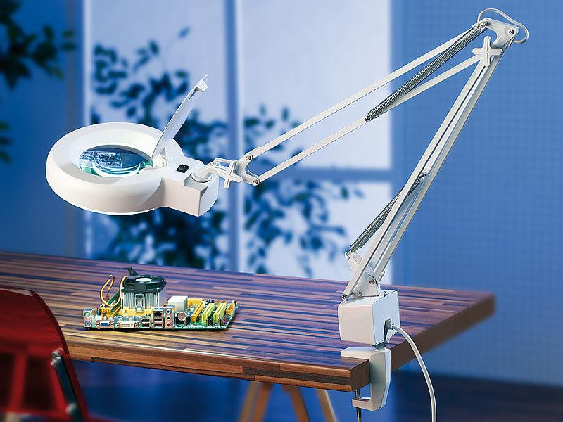 lupenlampe mit 22 watt r hre und 3 dioptrien vergr erung lampe mit lupe kaufen bei pearl. Black Bedroom Furniture Sets. Home Design Ideas