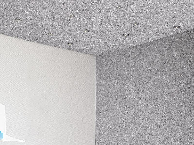 lunartec glasfaser sternenhimmel 10 teiliger led sternenhimmel mit chromfassungen leuchthimmel. Black Bedroom Furniture Sets. Home Design Ideas