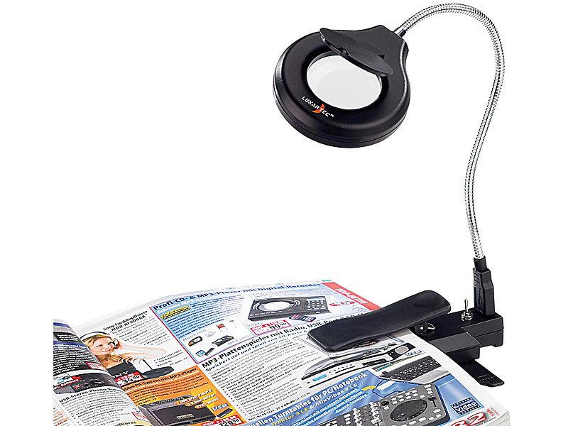 lunartec portable usb led lupenlampe mit 2 facher vergr erung. Black Bedroom Furniture Sets. Home Design Ideas