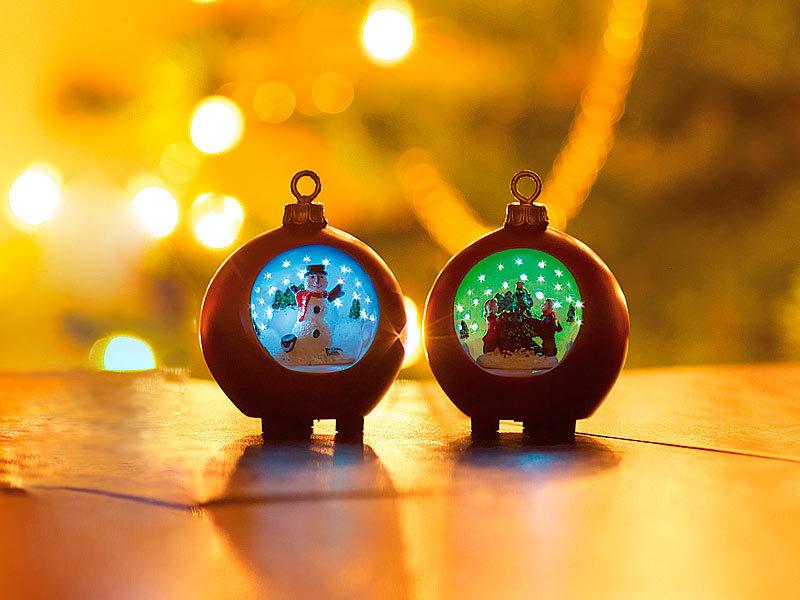 infactory kugel motiv weihnachtskugeln mit led sternenhimmel 2er set rot weihnachts kugeln. Black Bedroom Furniture Sets. Home Design Ideas