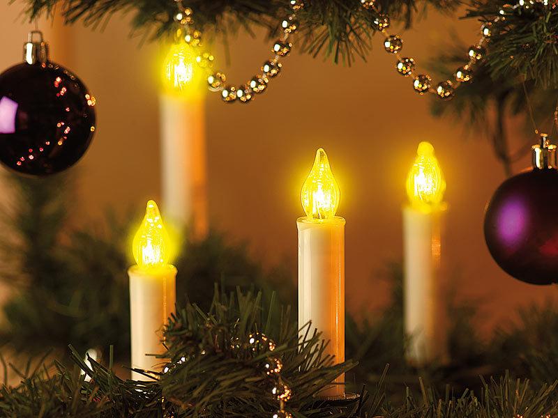 Lunartec led weihnachtsbaumkerzen mit fernbedienung 10er - Led lichterkette bunt mit fernbedienung ...