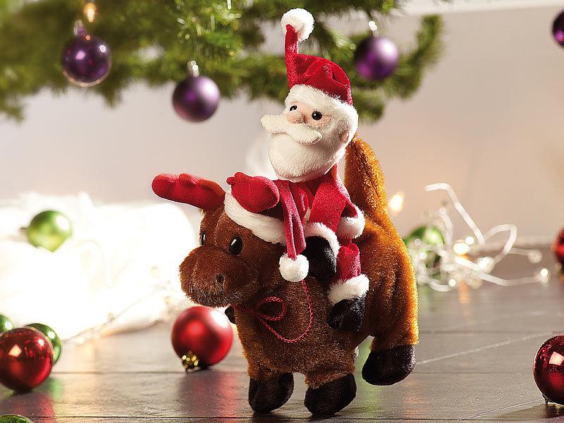 Playtastic weihnachtsmann salto claus mit rentier for Rentier dekoration