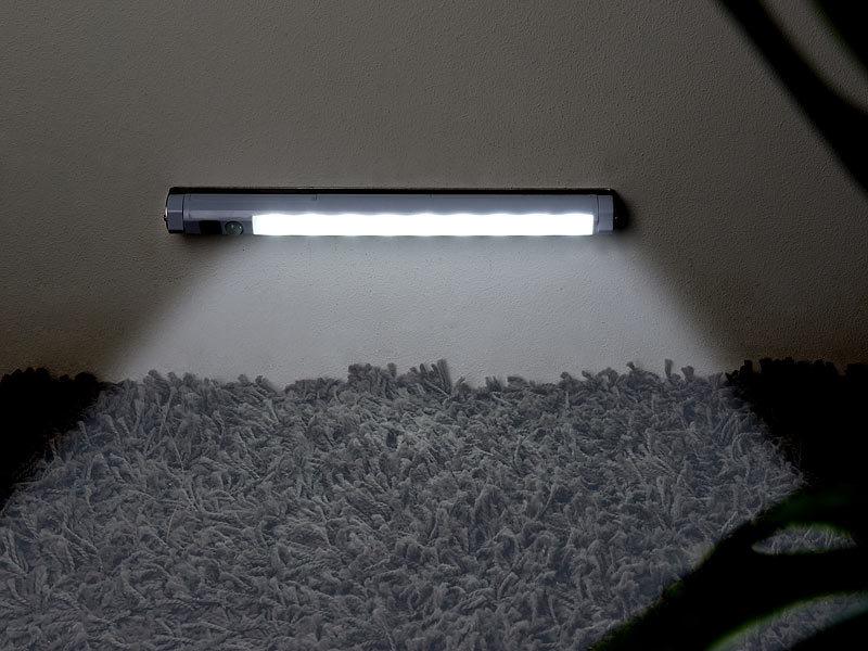 lunartec led leiste batterie led lichtleiste mit pir. Black Bedroom Furniture Sets. Home Design Ideas