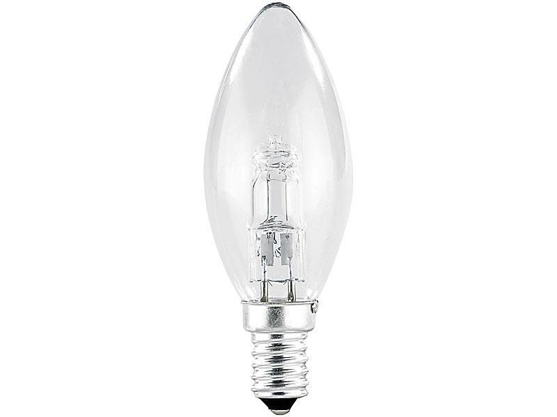 Luminea Halogenkerze: Halogen-Kerze, E14, 28 Watt, 370 Lumen ...