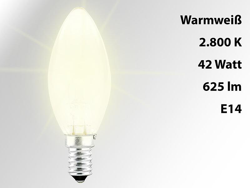luminea halogen kerze e14 28 watt 370 lumen warmwei. Black Bedroom Furniture Sets. Home Design Ideas