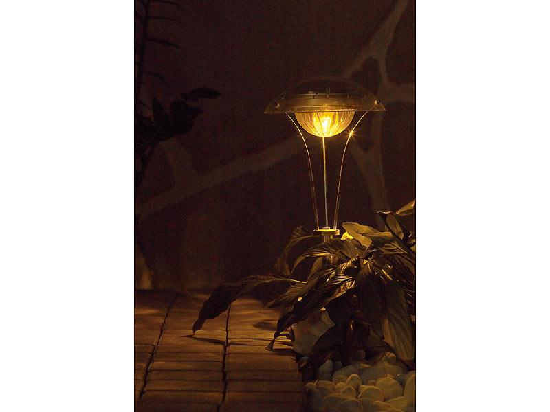 lunartec solar gartenlampen led chrom wegeleuchte rainbow garten wegbeleuchtung. Black Bedroom Furniture Sets. Home Design Ideas