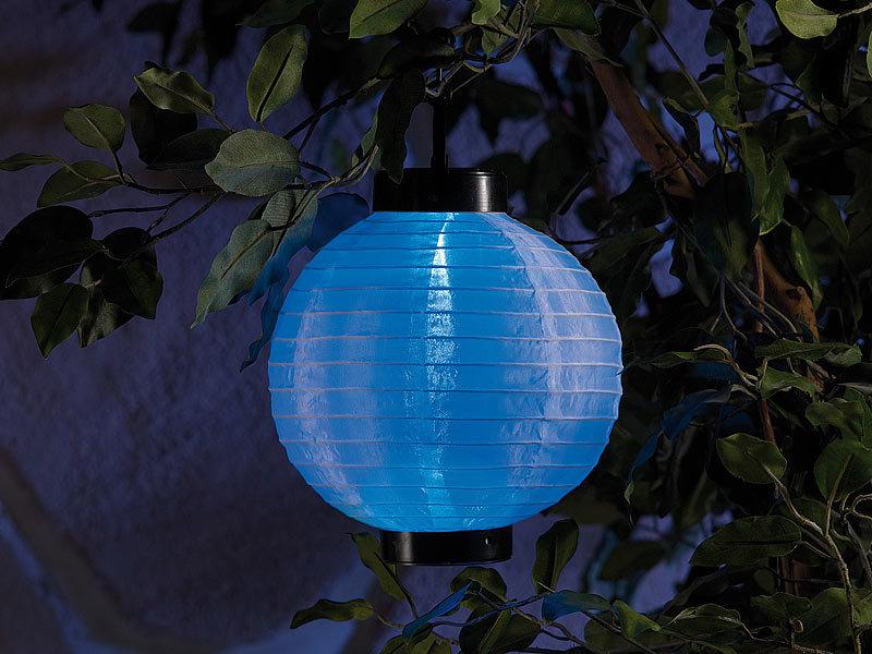 lunartec led solar laterne mit wei em licht farbwechlser. Black Bedroom Furniture Sets. Home Design Ideas