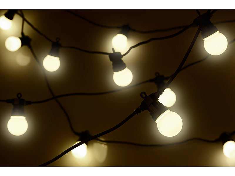 lunartec party lichterkette 20 wei en leds. Black Bedroom Furniture Sets. Home Design Ideas