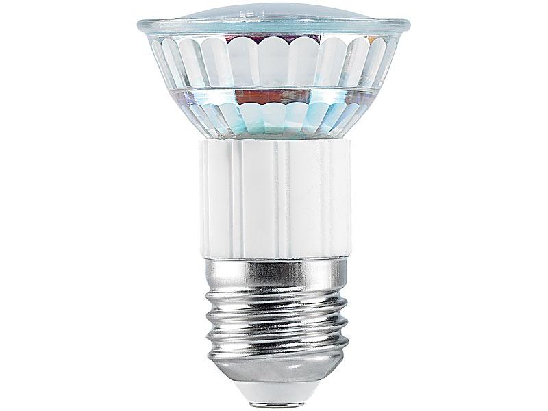 Luminea SMD-LED-Lampe, E27, 24 LEDs, orange, 6 lm