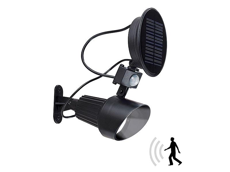 lunartec automatischer solar led spot mit pir bewegungsmelder 1w led 4er set. Black Bedroom Furniture Sets. Home Design Ideas