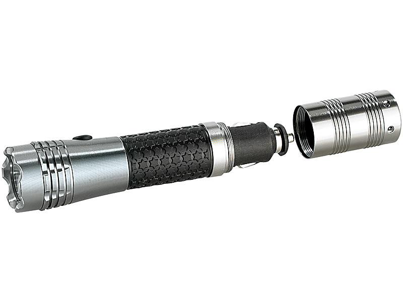 Lunartec auto taschenlampe: kfz akku taschenlampe 1 watt led 12v