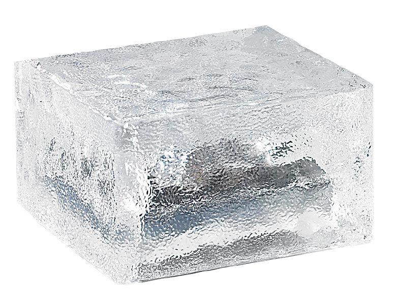 lunartec solar led glasbaustein mit lichtsensor l 15x15x5cm. Black Bedroom Furniture Sets. Home Design Ideas