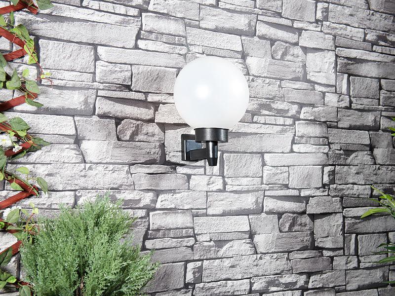 lunartec solar leuchtkugel led solar kugellampe mit erdspie 20 cm tageslichtwei ip44. Black Bedroom Furniture Sets. Home Design Ideas