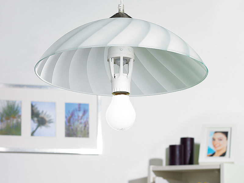 lunartec lampenfassung mit 360 pir bewegungssensor e27. Black Bedroom Furniture Sets. Home Design Ideas