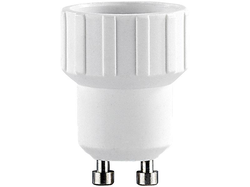 lunartec lampensockel adapter adapter gu10 auf e14 4er set. Black Bedroom Furniture Sets. Home Design Ideas