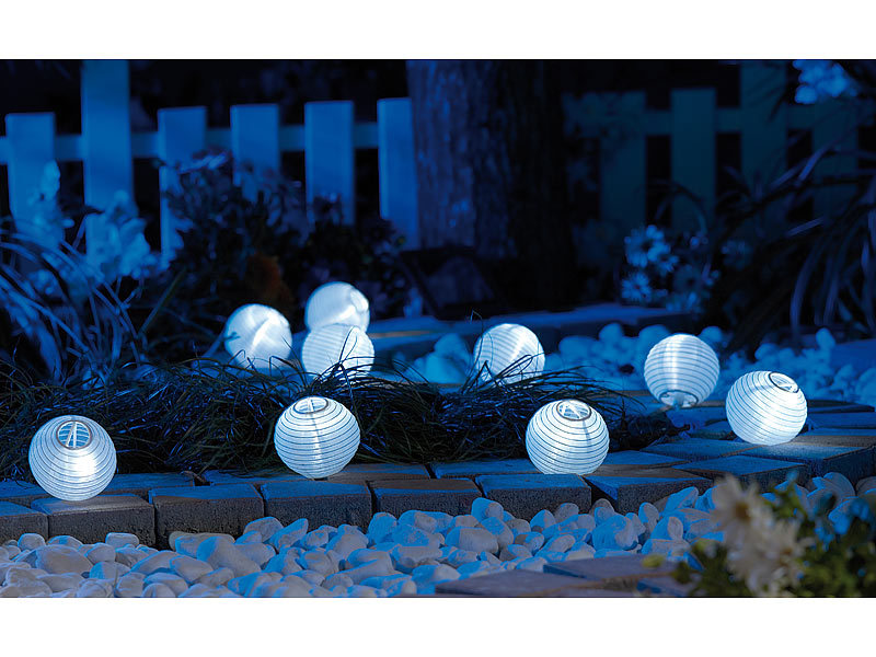 lunartec solar lichterkette mit 9 led mini lampions. Black Bedroom Furniture Sets. Home Design Ideas