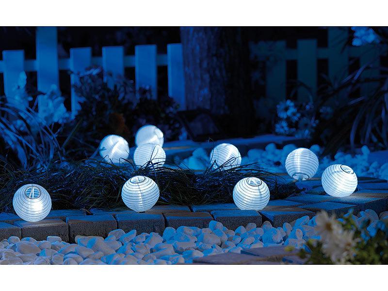 lunartec solar lichterkette mit 9 led mini lampions. Black Bedroom Furniture Sets. Home Design Ideas