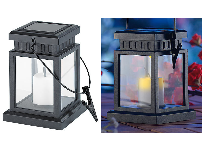 lunartec solar kerze solar led laterne in asiatischem design zum aufh ngen mit akku solarkerzen. Black Bedroom Furniture Sets. Home Design Ideas