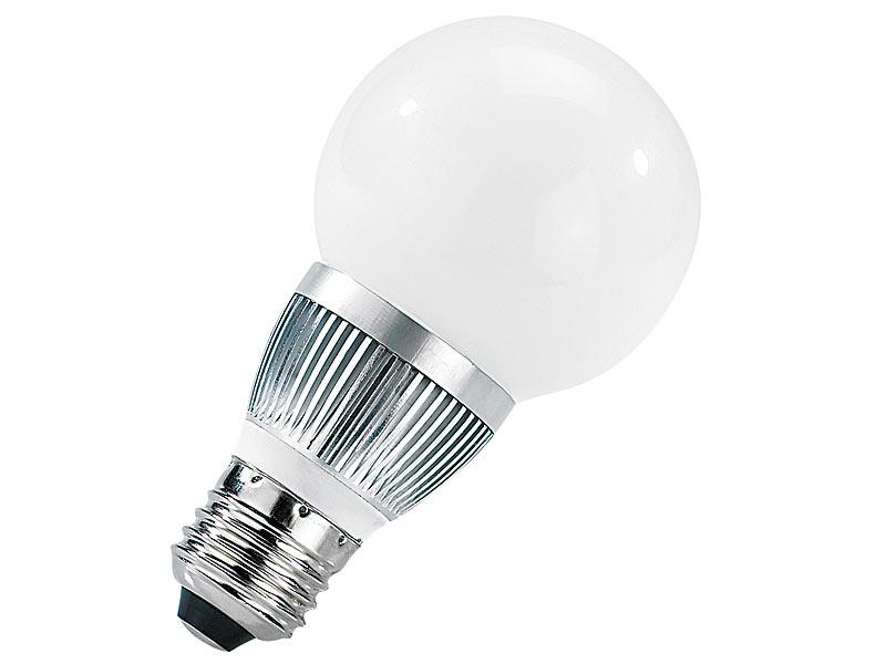 luminea 4er set energiespar led lampen mit 3 watt e27 warmwei 205 lm. Black Bedroom Furniture Sets. Home Design Ideas