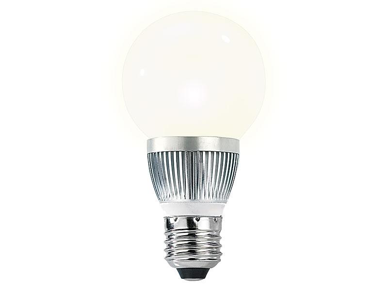 Luminea LED Leuchten E27: 4er Set Energiespar LED Lampen mit