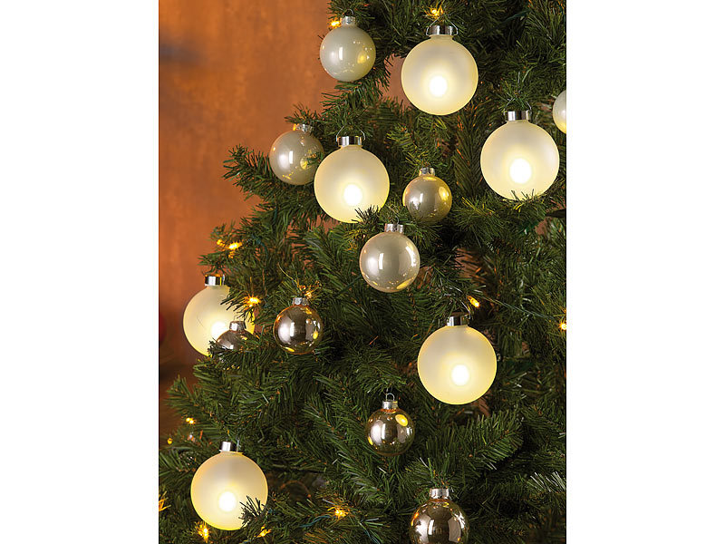 lunartec weihnachtsbaumkugeln beleuchtete weihnachtsbaum. Black Bedroom Furniture Sets. Home Design Ideas