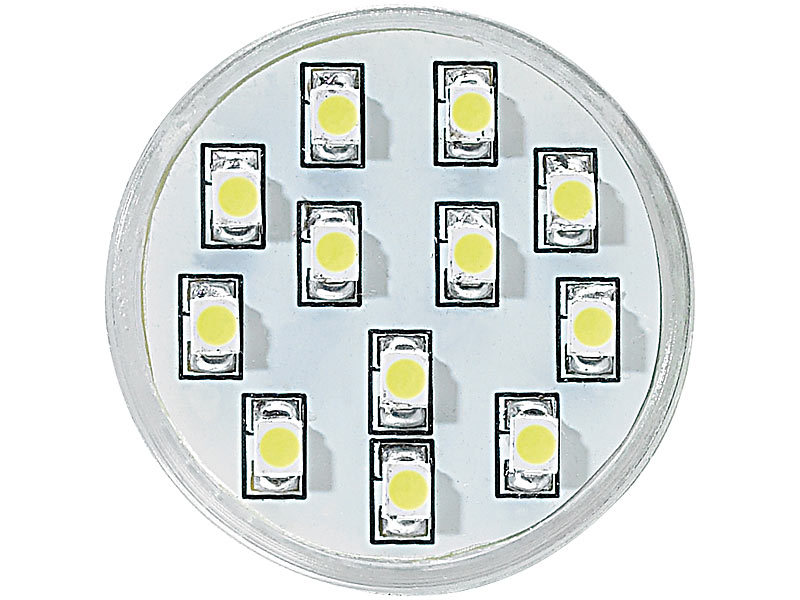 Luminea GU4 MR11 LED-Lampen: Energiespar-Spot GU4/MR11 SMD-LEDs ...