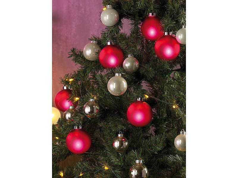 lunartec beleuchtete weihnachtsbaum kugeln aus glas fernbed 6 st ck rot. Black Bedroom Furniture Sets. Home Design Ideas
