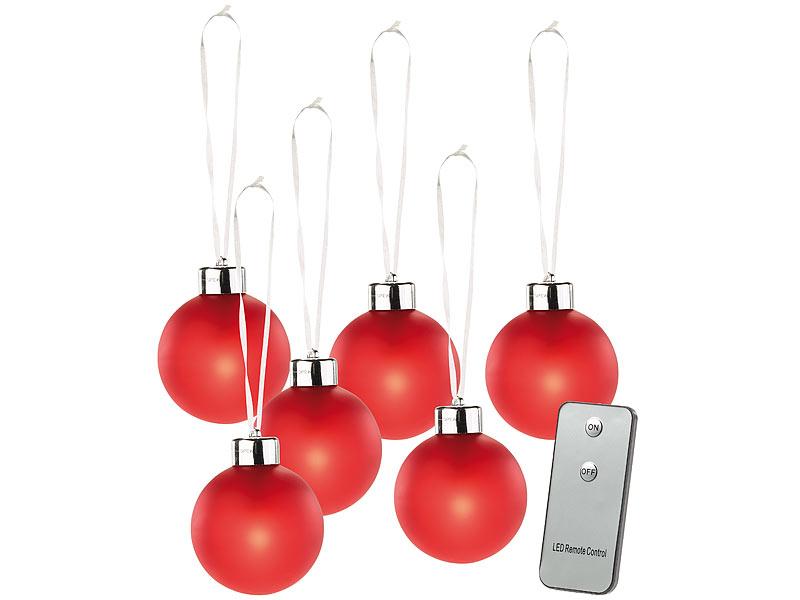 Lunartec LED Weihnachtskugeln: Beleuchtete Weihnachtsbaum-Kugeln aus ...