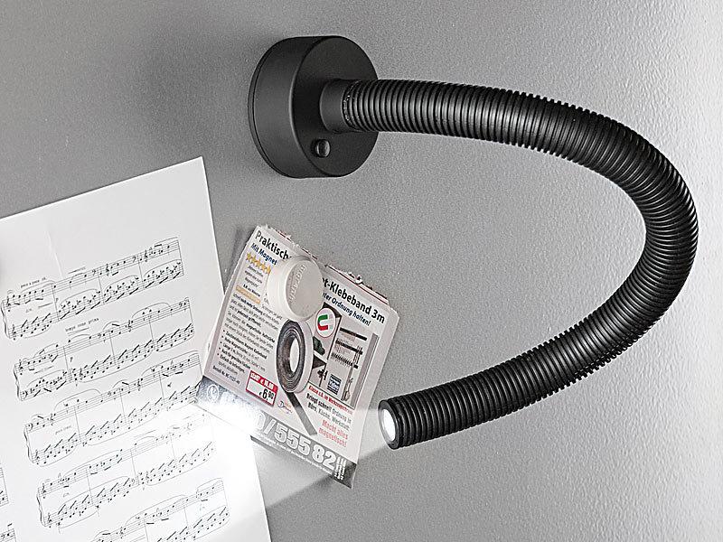 lunartec 1 watt led arbeitsleuchte mit schwanenhals. Black Bedroom Furniture Sets. Home Design Ideas