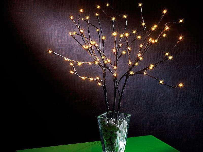 lunartec led lichter weidenstrauch zweige mit 75. Black Bedroom Furniture Sets. Home Design Ideas