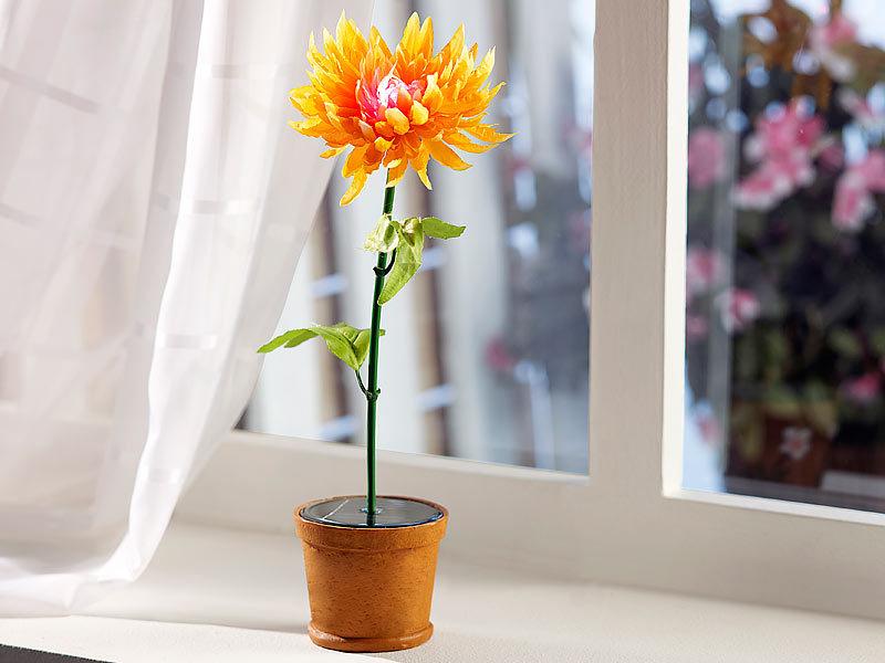 lunartec solar licht blume solar blumentopf k nstliche pflanze mit farbwechsel led solar. Black Bedroom Furniture Sets. Home Design Ideas