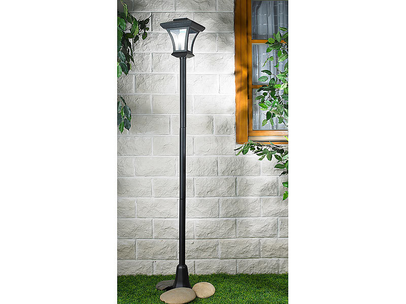 lunartec solar led gartenleuchte swl 11 mit 166 cm laternenmast 45 lm 0 3 w. Black Bedroom Furniture Sets. Home Design Ideas