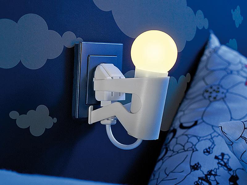 Lunartec Steckerlampe Originelles Led Nachtlicht Lustiges Kerlchen