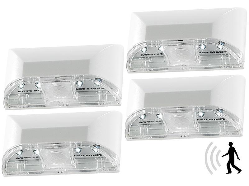 Schlüssellochbeleuchtung: Lunartec Automatische LED Türbeleuchtung Mit  PIR Sensor Im 4er Set Bild