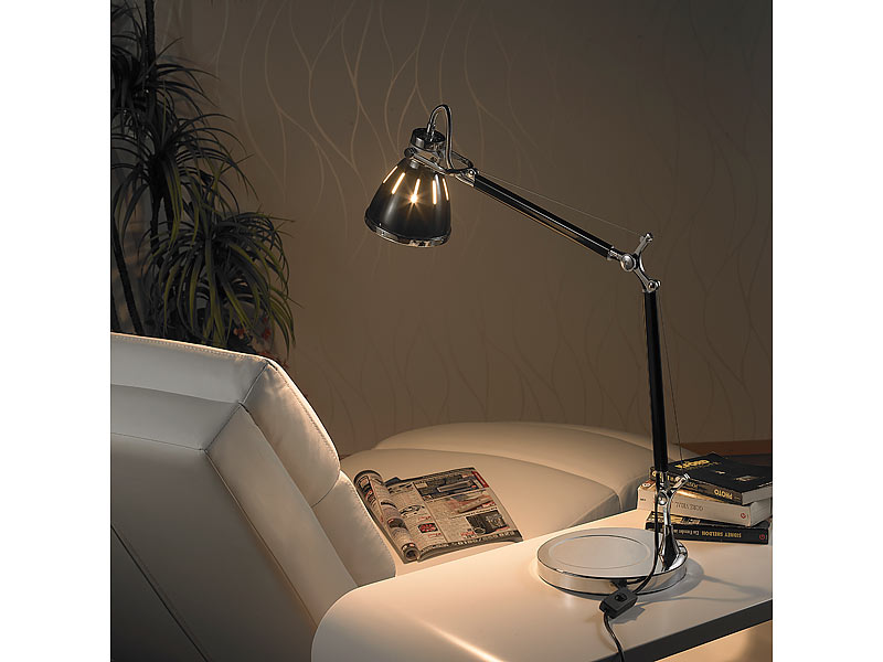 lunartec retro metall tischlampe klassisch. Black Bedroom Furniture Sets. Home Design Ideas