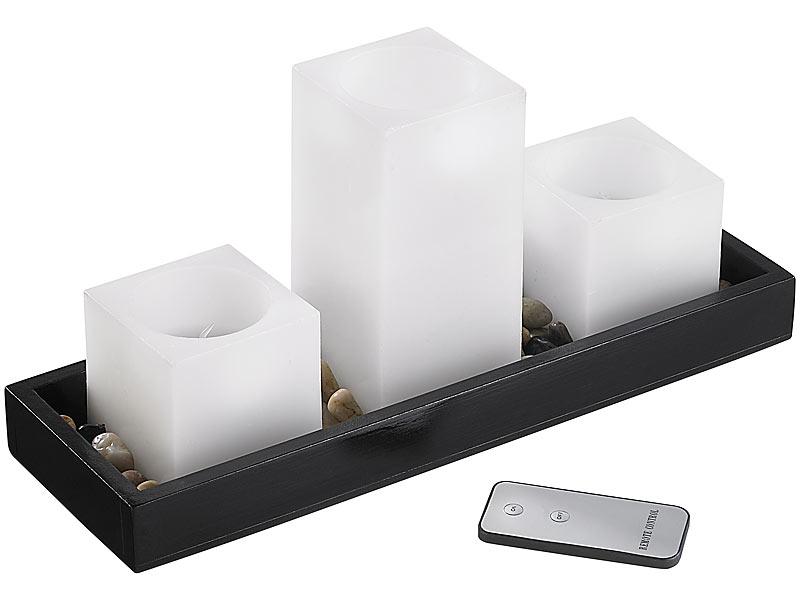 britesta feng shui dekoration led echtwachskerzen auf. Black Bedroom Furniture Sets. Home Design Ideas