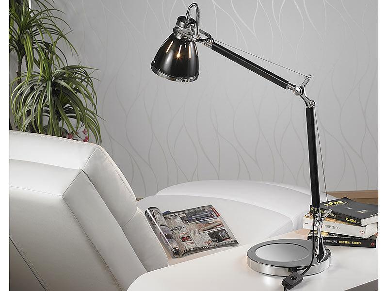 Lunartec tischlampen: elegante retro tischleuchte warmweiß im