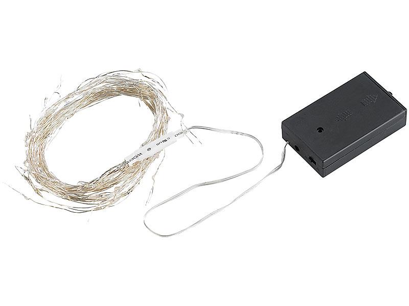 Lunartec Weihnachtsdeko-Draht: Dekostrang aus Draht mit LEDs ...