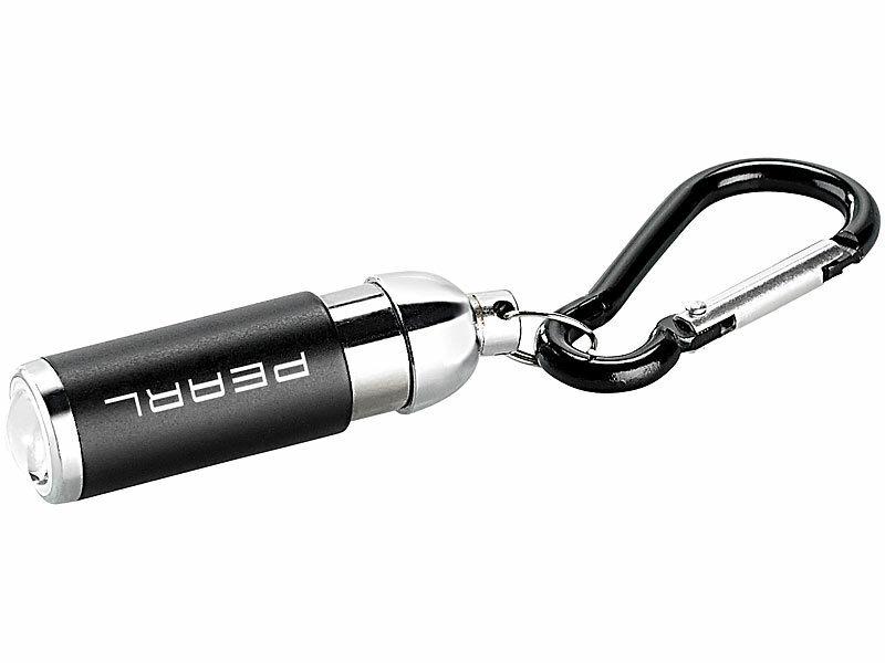 PEARL LED Schlüsselanhänger: Fokussierbare Mini-Taschenlampe mit ...