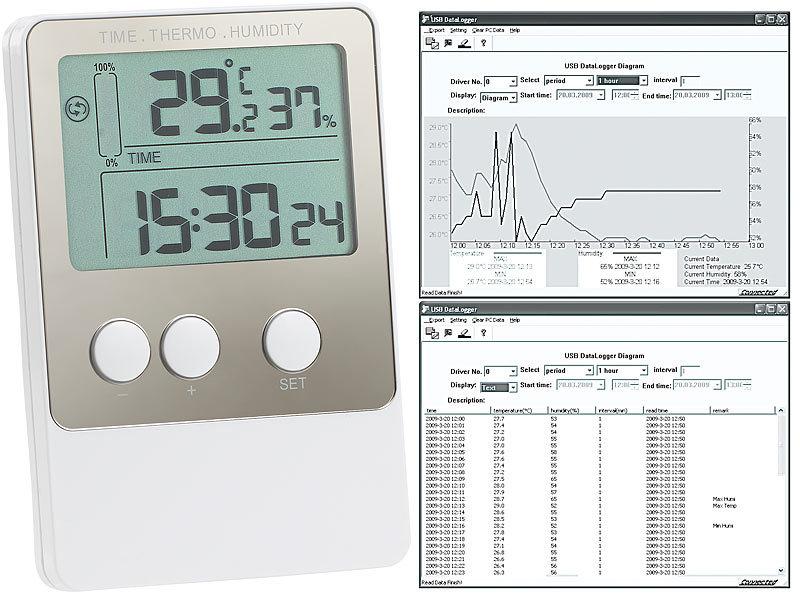 freetec usb temperatur luftfeuchtigkeits datenlogger v2. Black Bedroom Furniture Sets. Home Design Ideas