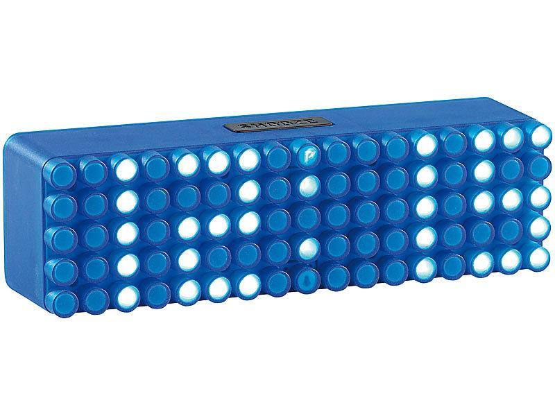 Moderner Wecker infactory moderne led wecker led designer wecker blue 24 led