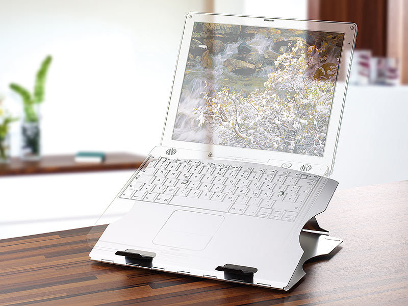 laptop st nder notebook st nder aus aluminium mit drehteller laptophalter. Black Bedroom Furniture Sets. Home Design Ideas