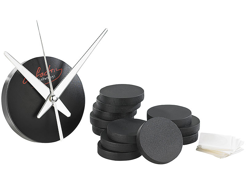 infactory wanduhr ohne geh use originelle wanduhr mit. Black Bedroom Furniture Sets. Home Design Ideas
