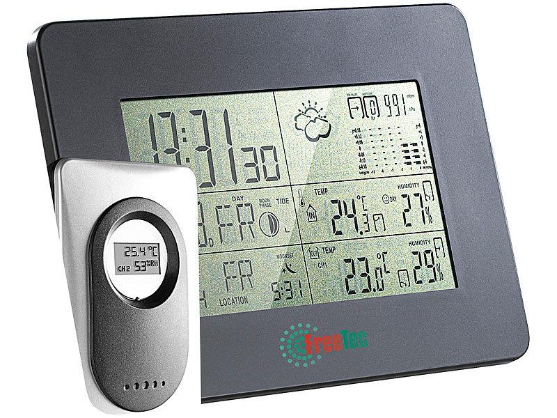 Mobile Funk-Wetterstation mit Funk-Uhr & digitalem Aussensensor
