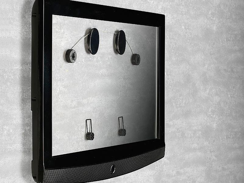auvisio flache tv wandhalterung ultraflache wandhalterung f lcd tv 26 60 66 152cm bis 40kg. Black Bedroom Furniture Sets. Home Design Ideas