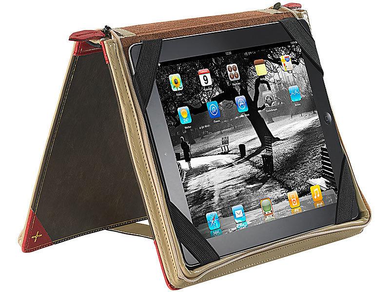 Xcase elegante schutztasche im buch design f r ipad touchlet for Buch design