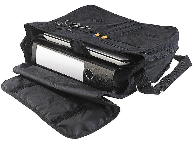 350eb988370f7 Umhängetasche  PEARL Lässige Umhänge-Tasche mit gepolstertem Notebook-Fach  bis 14