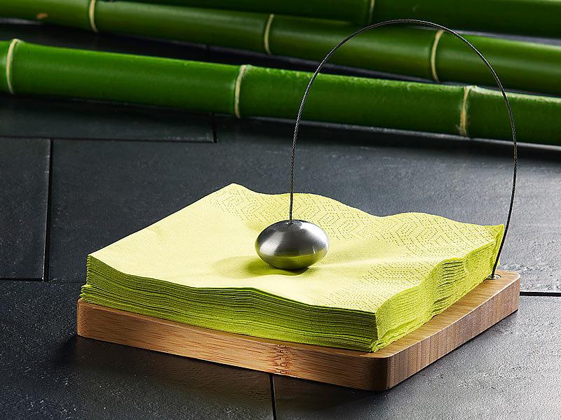 Tokiokitchenware tischdeko f r serviette designer serviettenhalter aus bambus serviettenhalter - Tischdeko bambus ...